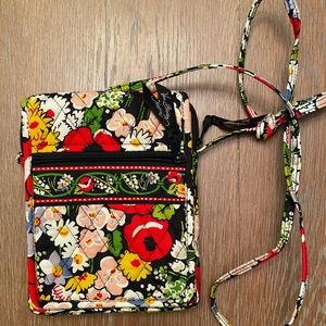 Vera Bradley Red and Multi Floral Crossbody